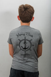 Ship Wheel Tee Kids - Grey