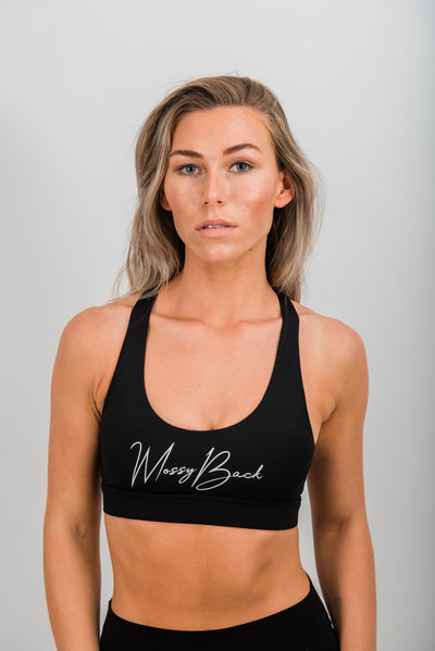 Mossy / J porter Sports Bra - Black Activewear