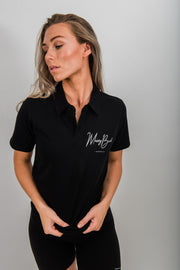 Mossy Back Golf Polo - Black