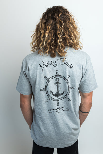 Ship-Wheel Tee - Grey