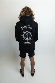 Ship-Wheel Hoodie - Black (Unisex Product)