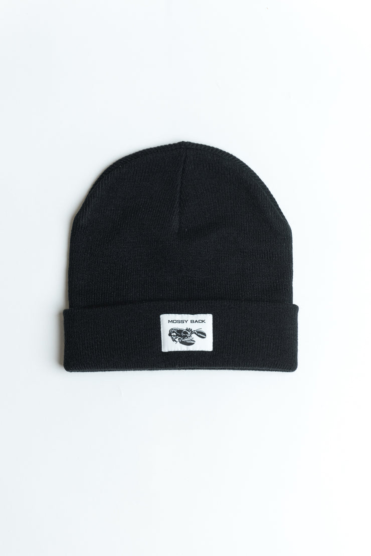 Mossy Back Beanie in Black