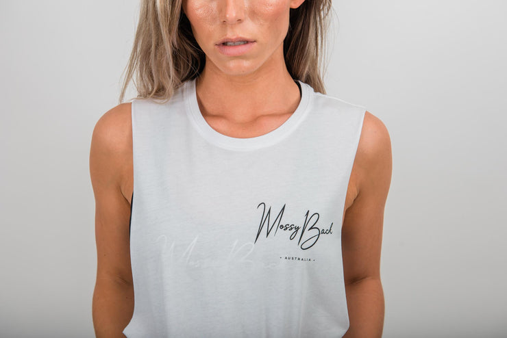 Muscle Tee - White (Unisex Product)