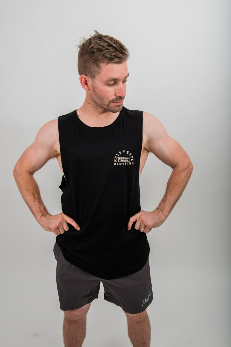 Thirsty Marron Muscle Tee Black