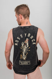 Thirsty Marron Muscle Tee - Stone Wash