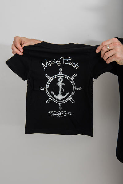 Ship Wheel Tee Black - Kids