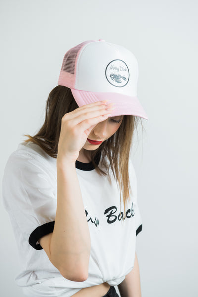 Trucker Hat - Pink/White