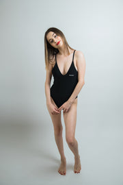 Mossy Back One Piece Swimsuit - Black