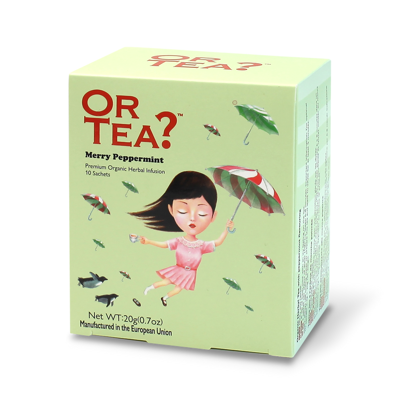 "Merry Peppermint thee ""Or tea?"" (doos met 10 zakjes) BIO"