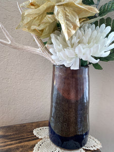 Deep Blue & Brown Vase - by Sophia Grace Collection