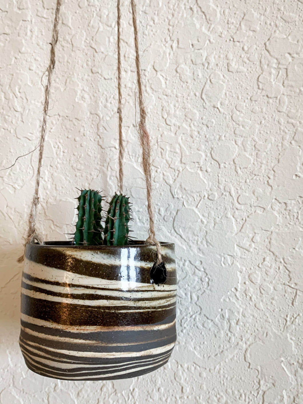Marbled Clay Hanging Planter - by Sophia Grace Collection