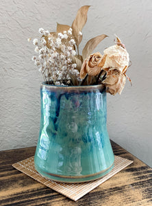 Chun Glazed Vase - by Sophia Grace Collection