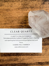 Load image into Gallery viewer, Clear Quartz Point - Clarity // Enlightenment