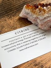 Load image into Gallery viewer, Medium Citrine Cluster - 90-130g - Positivity // Joy // Happiness
