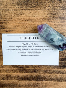 Small Fluorite Point - Peace // Focus