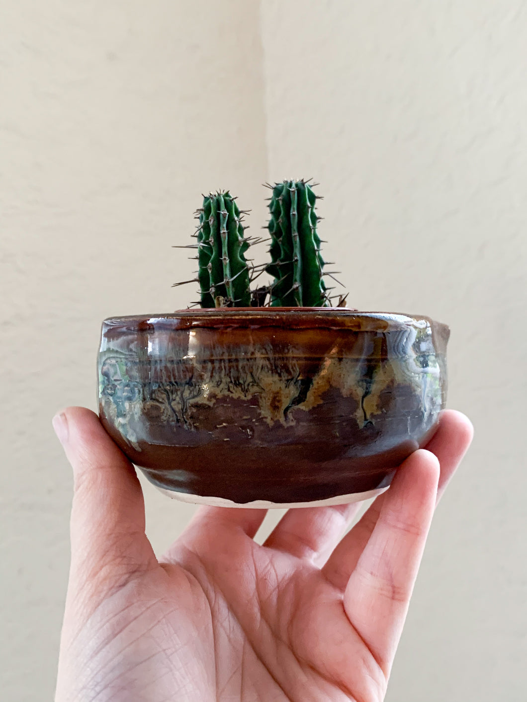 Small Brown Planter - by Sophia Grace Collection
