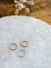 Load image into Gallery viewer, Hoop For Nose & Ear Piercings - Gold, Rose Gold or Sterling Silver - by Via Francesca