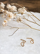 Load image into Gallery viewer, Heart Nose Stud - Sterling Silver // 14K Gold Filled // or Rose Gold Filled - by Via Francesca