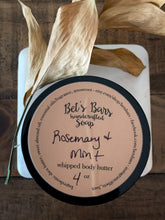 Load image into Gallery viewer, Rosemary & Mint Body Butter - 4oz - by Bet's Bars