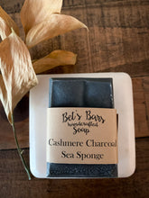 Load image into Gallery viewer, Cashmere Charcoal & Sea Sponge Soap - by Bet's Bars