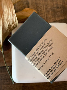 Cashmere Charcoal & Sea Sponge Soap - by Bet's Bars
