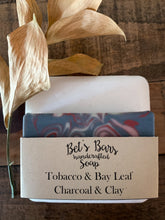 Load image into Gallery viewer, Tobacco & Bay Leaf Charcoal & Clay Soap - by Bet's Bars