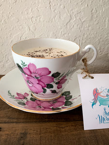 Pink Hibiscus Teacup Candle - by Sweet Mermaids