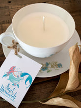 Load image into Gallery viewer, Water Lily & Jasmine Teacup Candle - by Sweet Mermaids