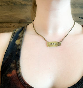 Personalized Shell Casing Necklace - Hand Stamped - by Via Francesca