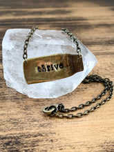 Load image into Gallery viewer, Personalized Shell Casing Necklace - Hand Stamped - by Via Francesca