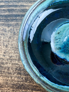 Blue-Green Incense Holder with Blue Glass - by Sophia Grace Collection