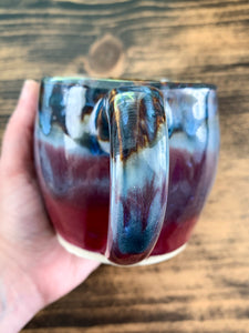 Burgundy & Blue Mug - by Sophia Grace Collection