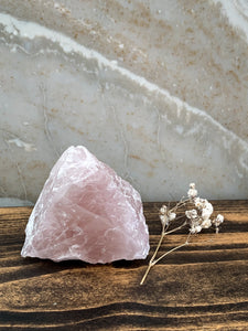 Rough Rose Quartz Chunk - 309g - Unconditional Love // Understanding