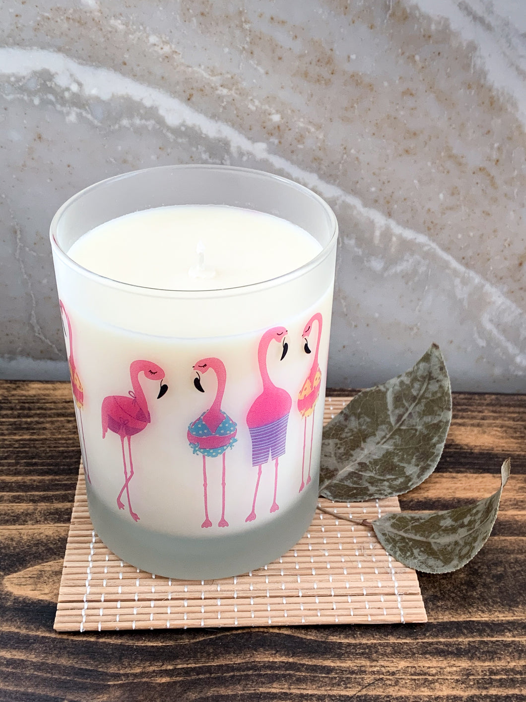 Clementine Lavender - Flamingo Candle - by Sweet Mermaids