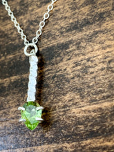 Load image into Gallery viewer, Teardrop Peridot Necklace - Sterling Silver - by Via Francesca
