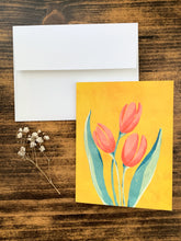 Load image into Gallery viewer, French Tulip Notecard - Single or Set of 5 - by Curated Dry Goods
