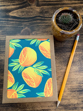 Load image into Gallery viewer, Orange Pair in Forest Notecard - Single or Set of 5 - by Curated Dry Goods