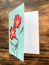 Load image into Gallery viewer, Red Peony Notecard - Single or Set of 5 - by Curated Dry Goods