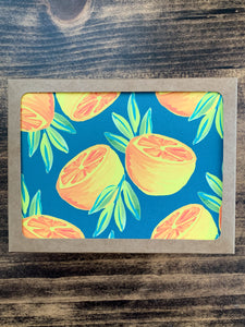 Orange Pair in Forest Notecard - Single or Set of 5 - by Curated Dry Goods