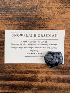Tumbled Snowflake Obsidian - Calm // Accept Change