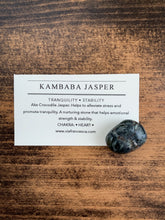 Load image into Gallery viewer, Tumbled Kambaba Jasper - Tranquility // Stability