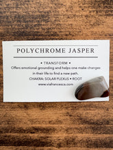 Load image into Gallery viewer, Tumbled Polychrome Jasper - // Transform //