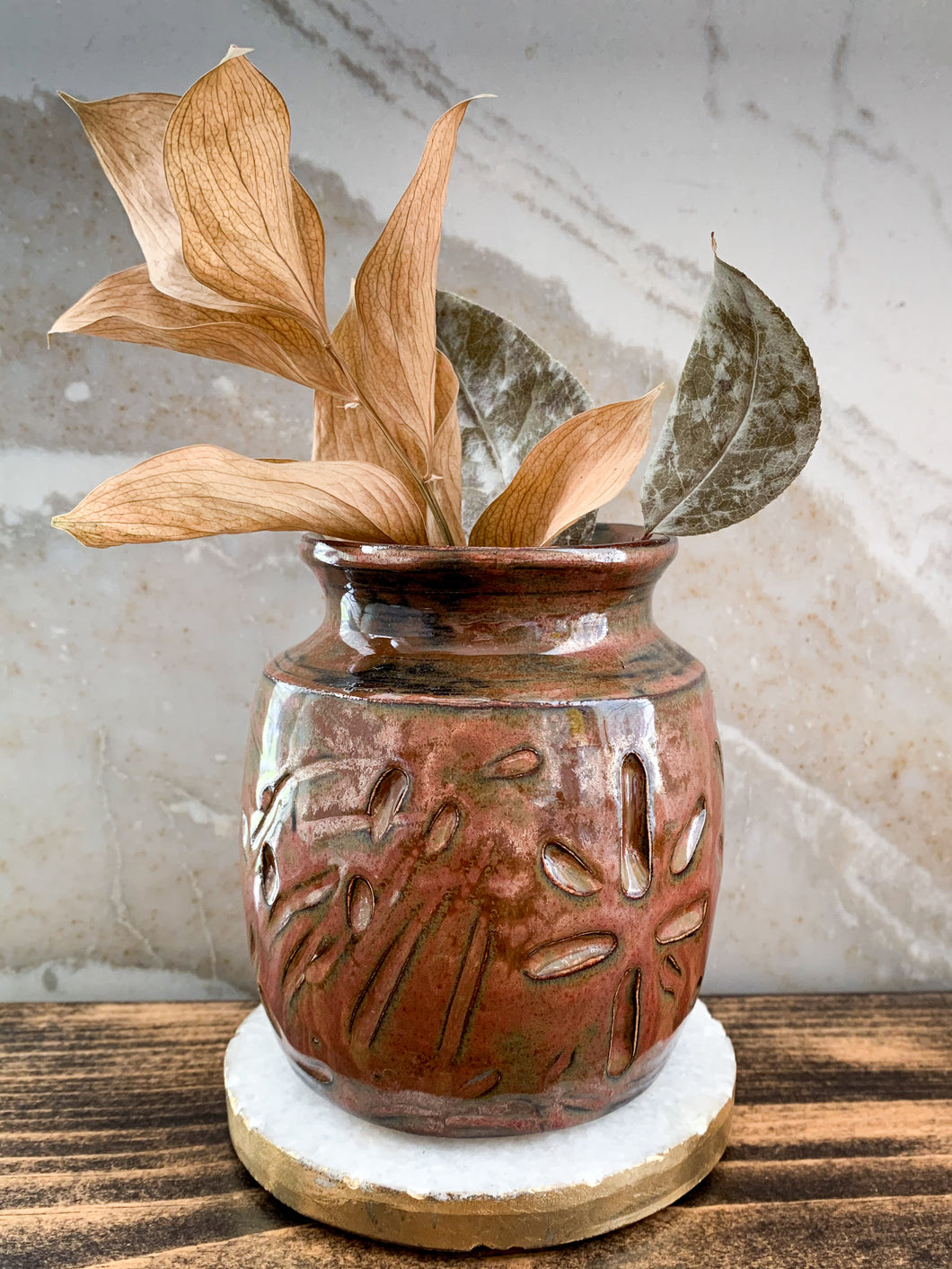 Copper Clay Vase - by Sophia Grace Collection