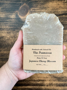 Japanese Cherry Blossom Soap - by Naked Kettle Soap