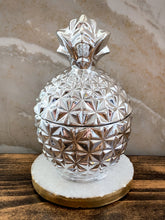 Load image into Gallery viewer, Silver Pineapple Soy Candle - With Surprise Earrings Inside! - Pick Your Scent - by Sweet Mermaids