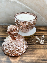 Load image into Gallery viewer, Rose Gold Pineapple Soy Candle - With Surprise Earrings Inside! - Pick Your Scent - by Sweet Mermaids