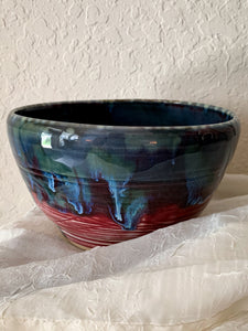 Large Blue Drip Bowl - by Sophia Grace Collection