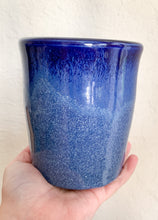 Load image into Gallery viewer, Blue Jar with Lid and Wooden Scoop - by Sophia Grace Collection