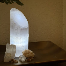 Load image into Gallery viewer, Polished Angle Selenite LED Lamp - Cleanse // Protection // Peace