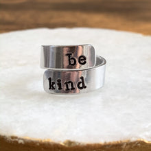 Load image into Gallery viewer, Custom Adjustable Aluminum Wrap Ring - Personalized Name - You Choose The Saying! - by Via Francesca